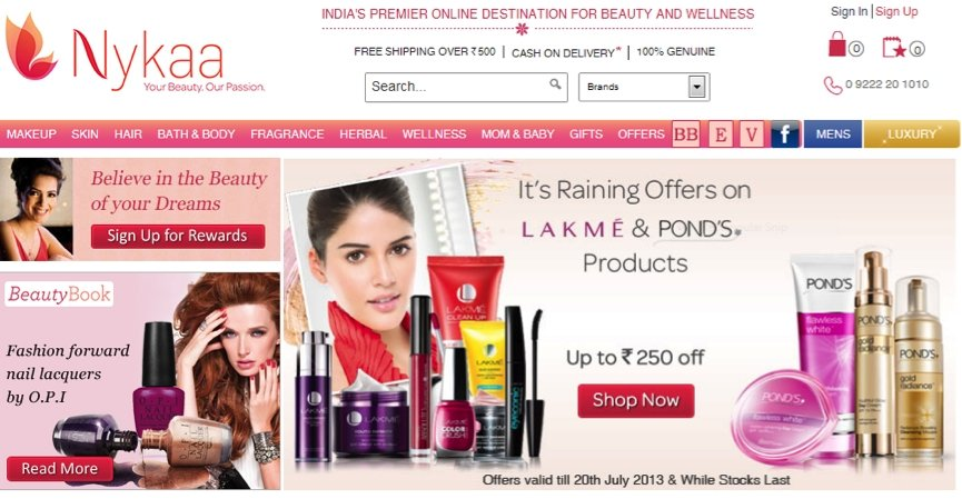 Indian personal care e-commerce site Nykaa registers 323% growth