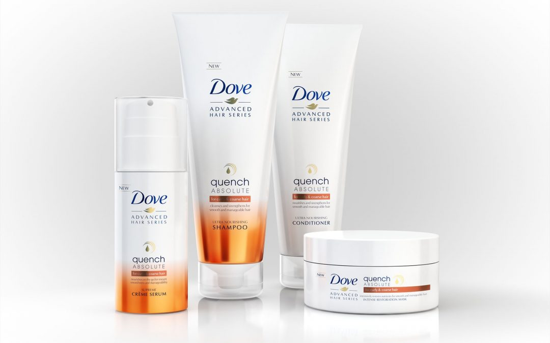 Dove teams up with JDO Brand Design and Innovation for new design of Quench hair care range