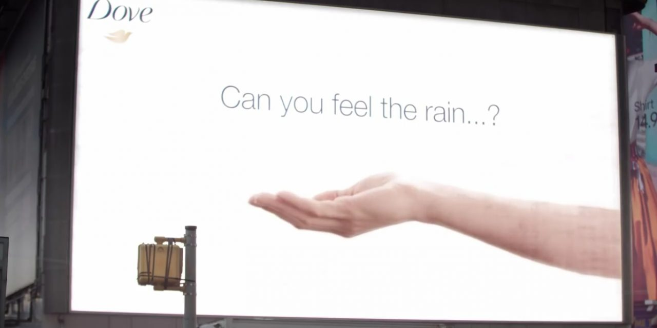 The biggest shower ever: Dove promotes new body wash with weather-sensitive billboard