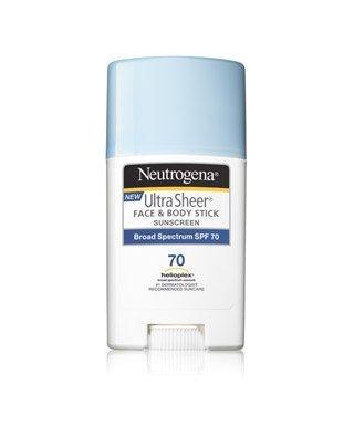 Neutrogena – Ultra Sheer Face + Body Stick Sunscreen Broad Spectrum SPF 70