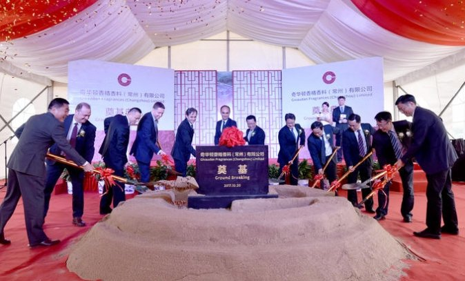 Givaudan lays foundation for new Changzhou facility