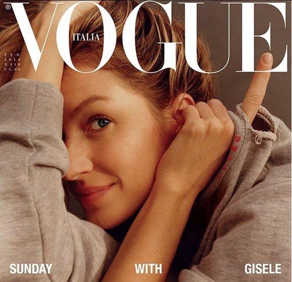 Gisele Bundchen goes make-up free on Vogue Italia cover