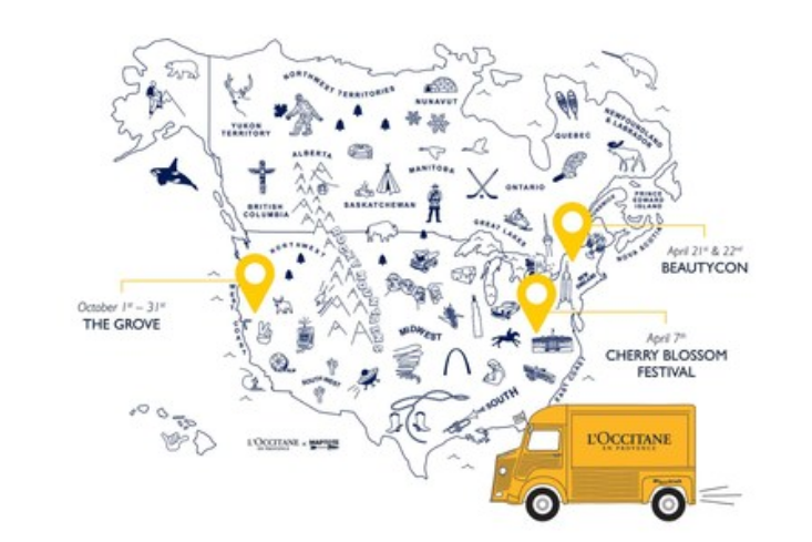 Street beauty: L'Occitane takes to the road with retail truck
