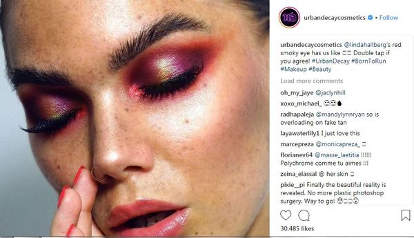 Fans praise Urban Decay for promoting 'real' skin