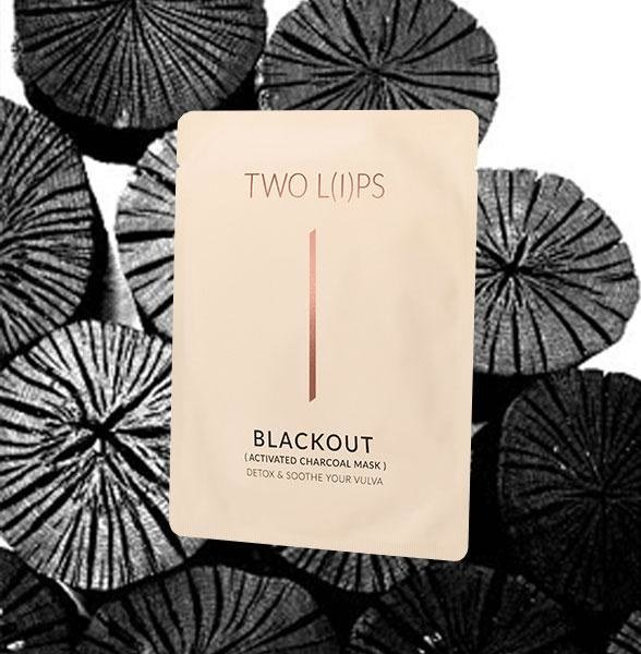 Two Lips Blackout Activated Charcoal Vulva Mask