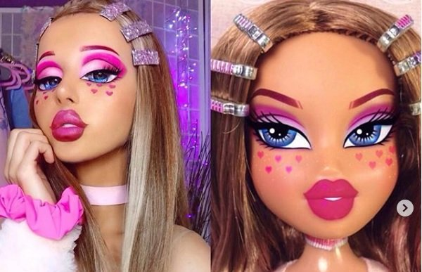 Doll face: Bratz Challenge make-up trend sweeps social media