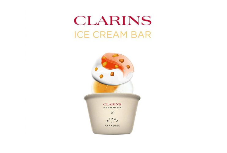 Clarins unveils Ice Cream Bar pop up in Singapore
