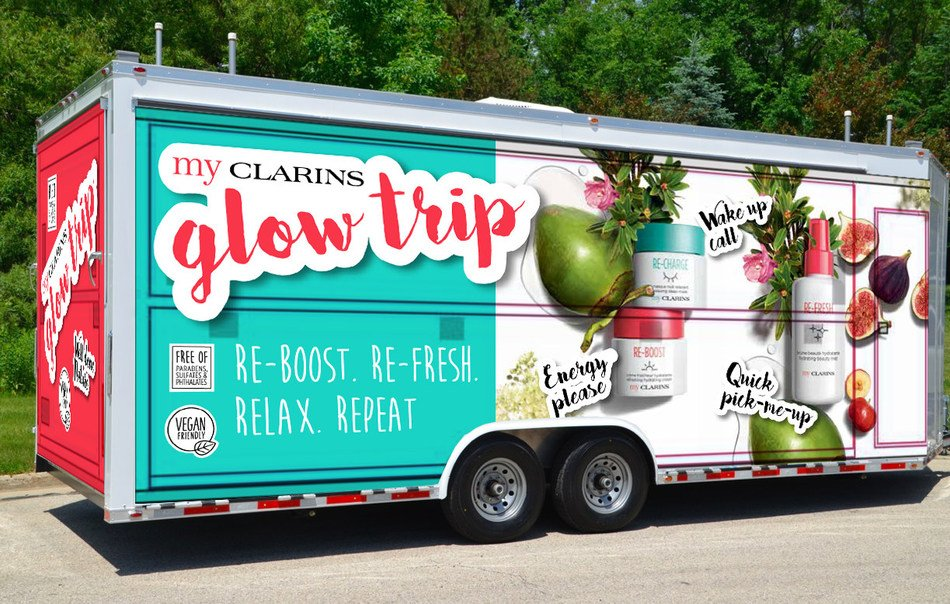 Clarins launches My Glow Trip mobile interactive pop-up across U.S.