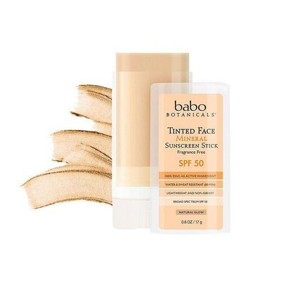 Babo Botanicals Tinted Face Natural Glow Mineral Stick SPF 50 Fragrance Free