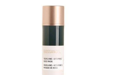 BiossanceSqualane+Vitamin C Rose Mask