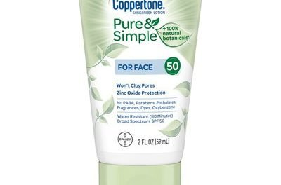 Coppertone Pure & Simple Sunscreen Lotion for Face SPF 50