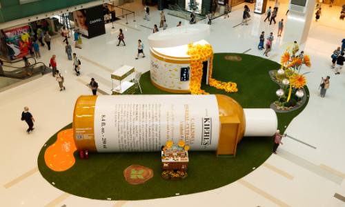 Kiehls incorporates giant flower AR gaming experience into Hong Kong pop up store