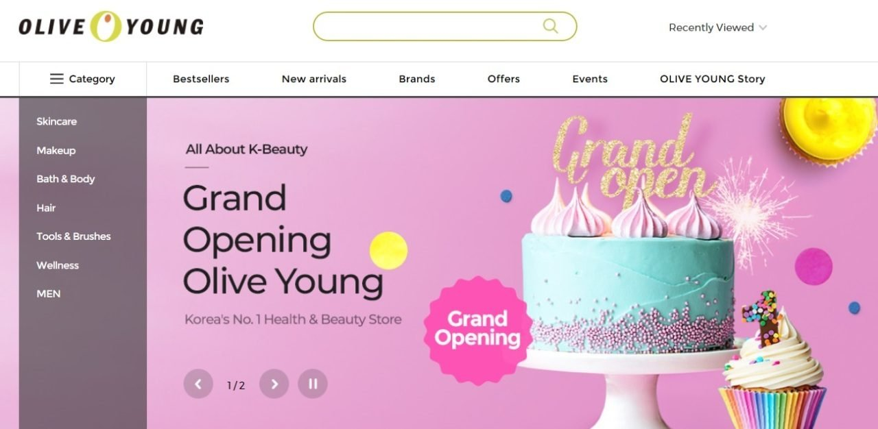 K-beauty retailer Olive Young launches global shopping site